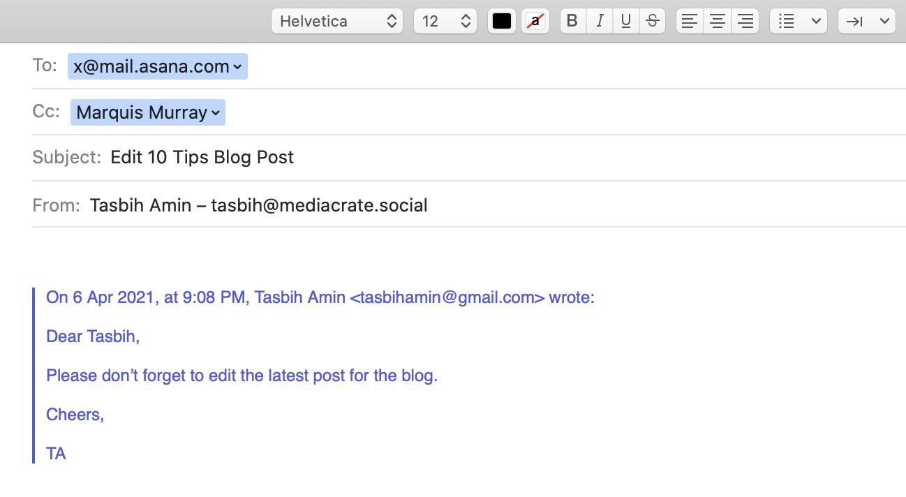 Email- Asana